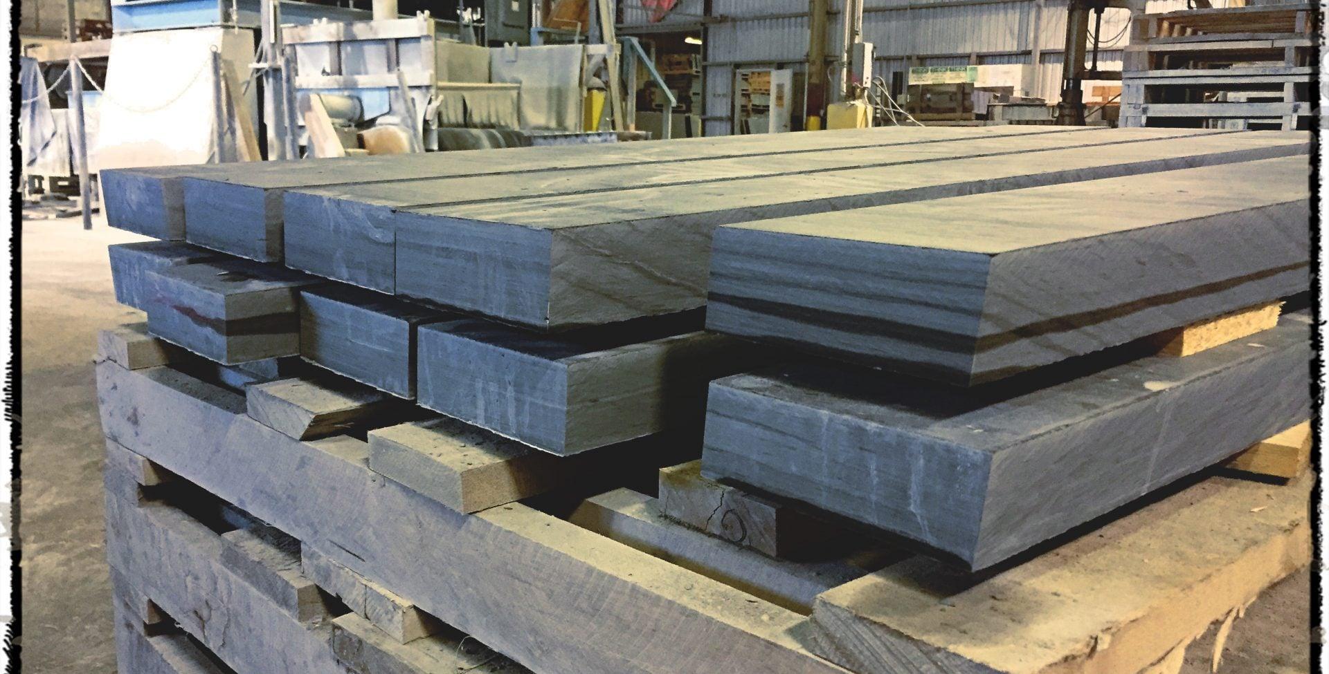 Slate treads in our main custom slate production mill.