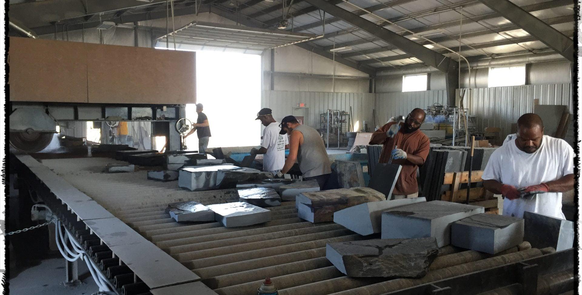 Our slate production facility in Buckingham County Virginia