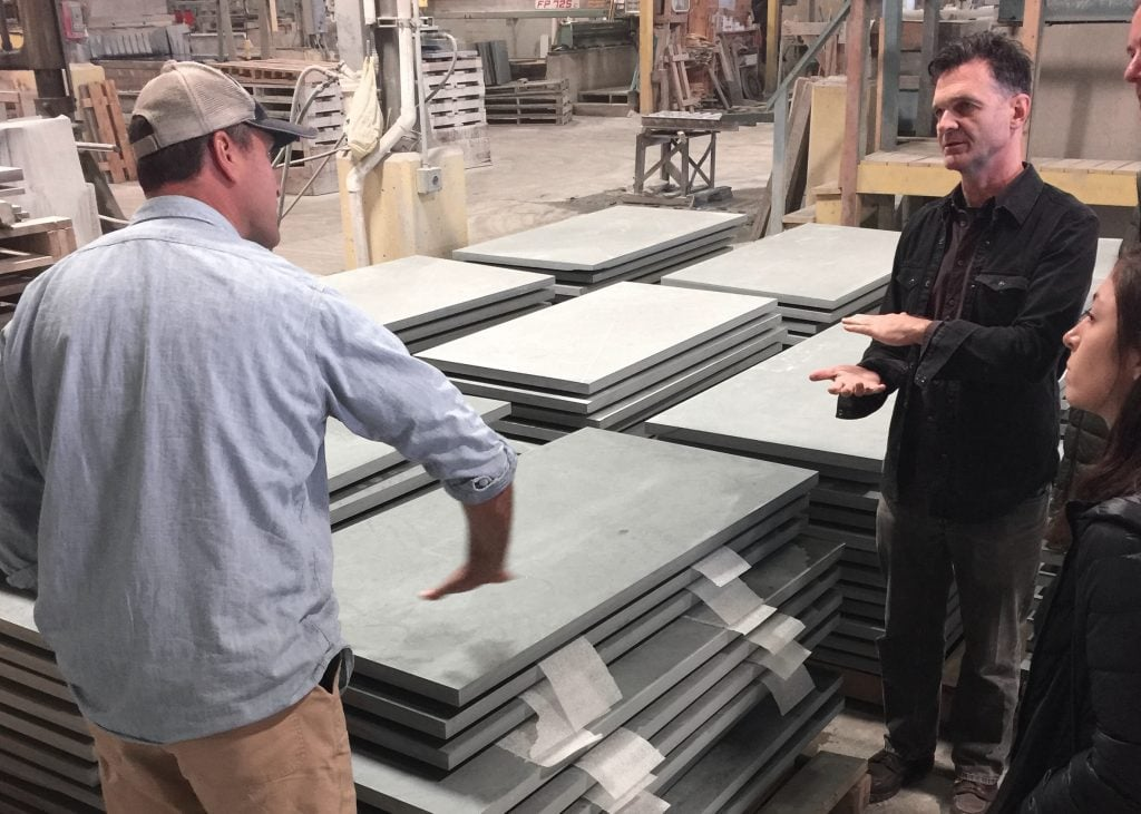 craig markcrow discusses slate finishing with chris andreacola of diller scofidio