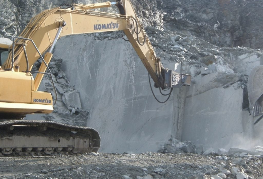 When quarrying stone, we drill for wire saws in the quarry