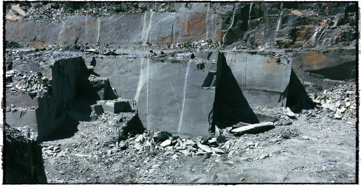 View of Slate quarry owned by James River slate in Buckingham Co VA