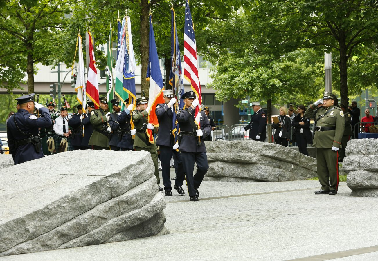 Opening Ceremony at 9/11 Memorial Glade